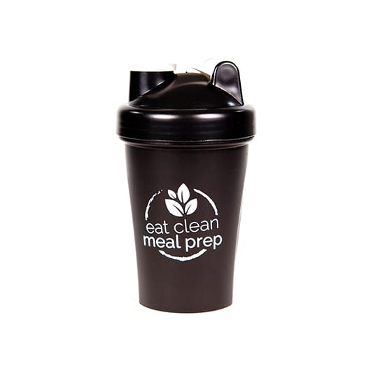 Black Protein Shaker Bottle by Eat Clean Meal Prep
