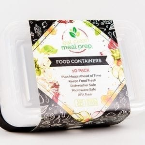 Food Containers - 24 Oz - 1 Compartment - 10 pack from Eat Clean Meal Prep